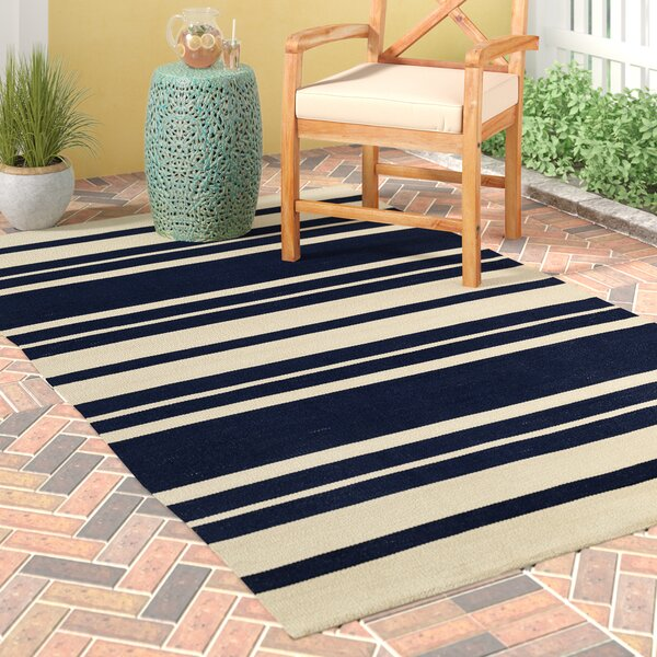 Walden Handwoven Blue  Indoor/Outdoor Area Rug by Breakwater Bay
