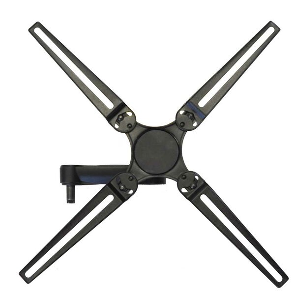 Full Motion Dual Arm Single Stud Tilt Wall Mount for 10- 55 Flat Panel Screens by Level Mount