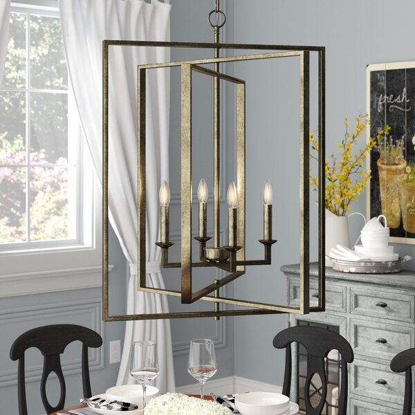 Maisie 4-Light Candle Style Rectangle/Square Chandelier by Gracie Oaks Gracie Oaks