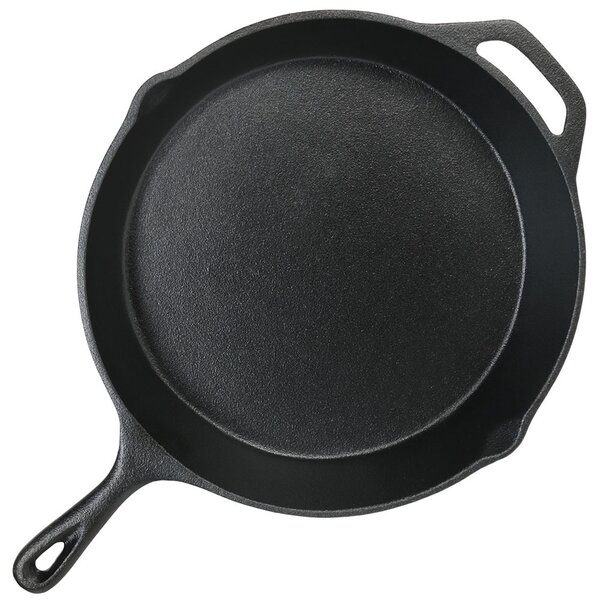 Norita 12 Cast Iron Frying Pan/Skillet by Charlton Home