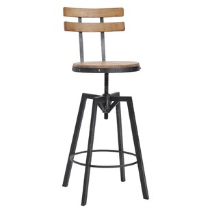 Gloria Adjustable Height Swivel Bar Stool ...