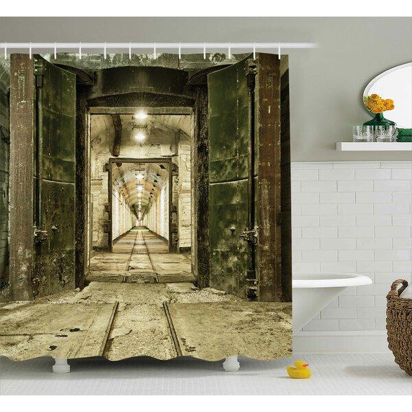 Antique Warfare Ruin Decor Shower Curtain by East Urban Home