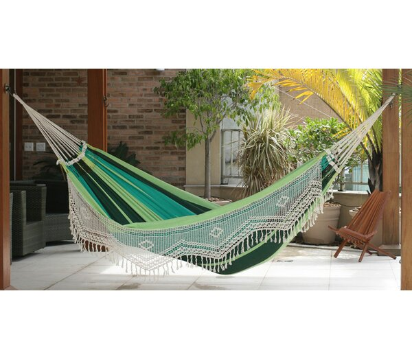 Stripe Cotton Tree Hammock by Novica