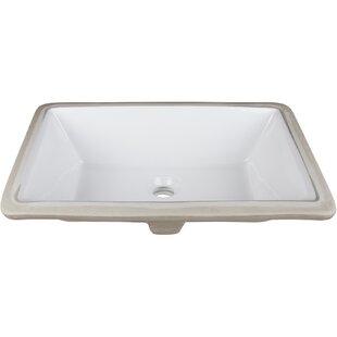 Best Choices Ceramic Rectangular Undermount Bathroom Sink ByHardware Resources