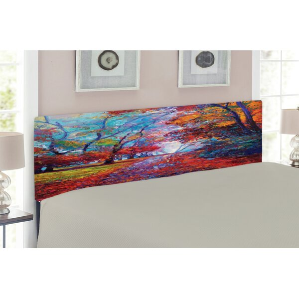 The Nature Art Upholstered Panel Headboard by East Urban Home East Urban Home