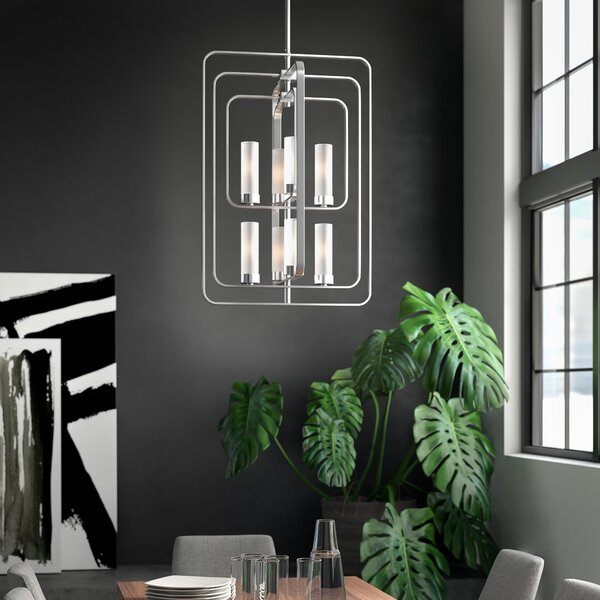 Iniguez 8 - Light Statement Square / Rectangle Chandelier By Mercury Row