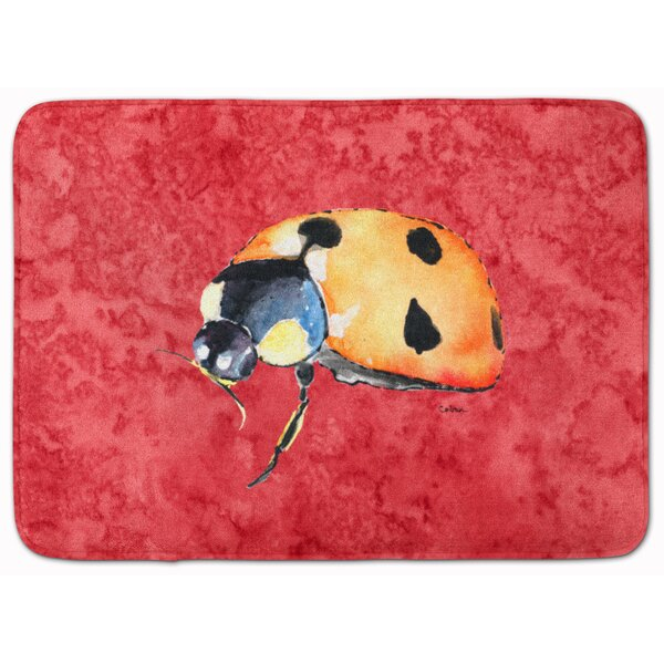 Mallory Lady Bug Memory Foam Bath Rug