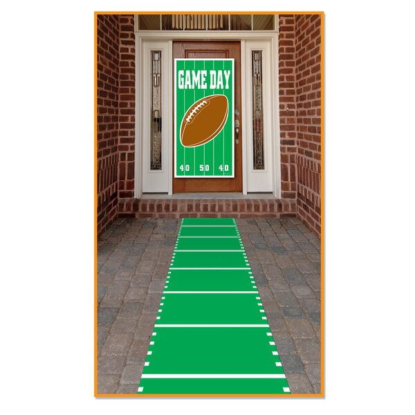 Frese Sports Field Indoor/Outdoor Green Area Rug by The Holiday Aisle