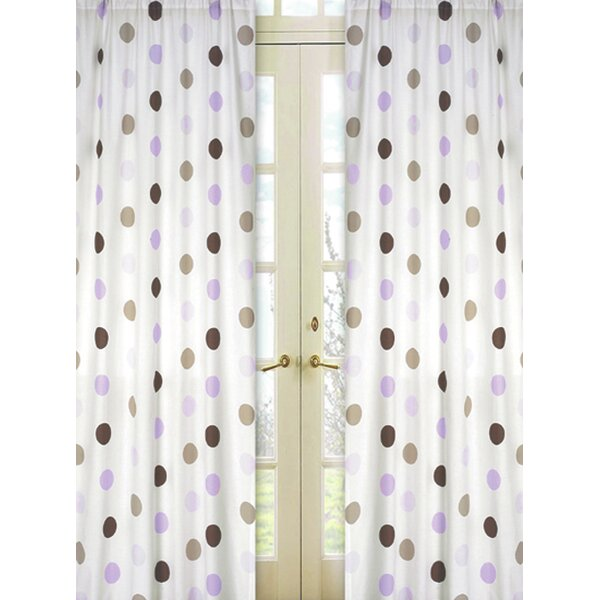 Mod Dots Polka dots Semi-Sheer Rod pocket Curtain Panels (Set of 2) by Sweet Jojo Designs