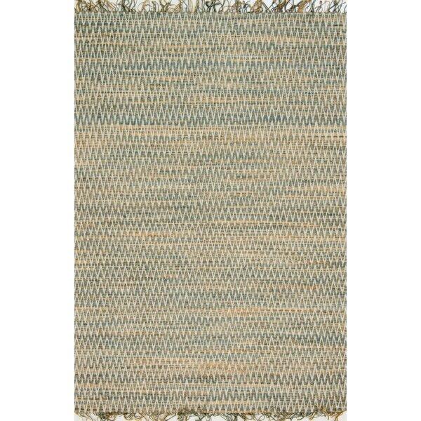 Faraci Hand-Woven Fog Area Rug by August Grove