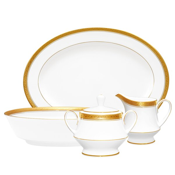 Crestwood Gold 5 Piece Completer Set by Noritake