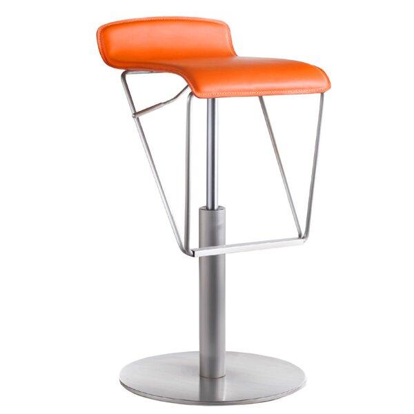 Alfa Adjustable Height Swivel Bar Stool by Bellini Modern Living