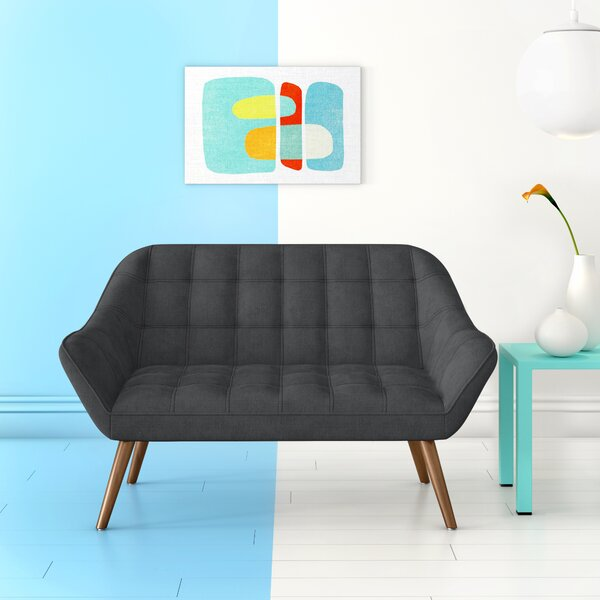 Herrald Modern Tufted Loveseat by Hashtag Home
