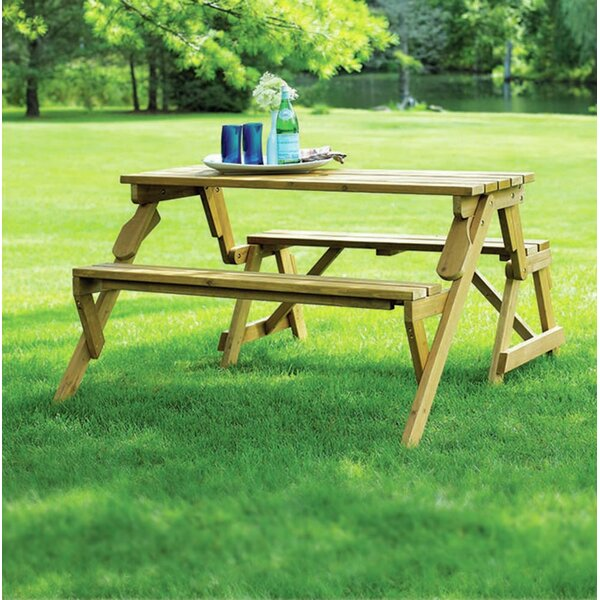 Dreiling Convertible Wooden Picnic Table & Garden Bench by Andover Mills