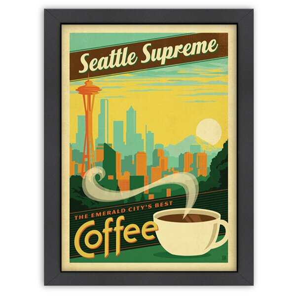 Seattle Supreme Framed Vintage Advertisement by East Urban Home