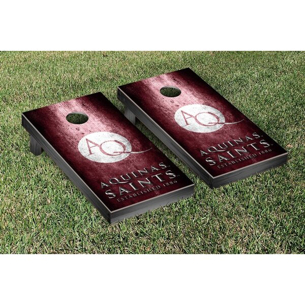 NAIA Aquinas Saints Metal Version Cornhole Game Set by Victory Tailgate