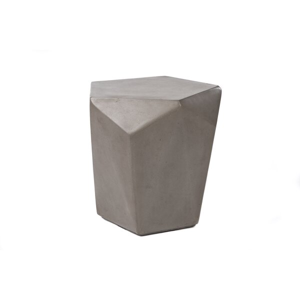 Linscott Stone/Concrete Side Table by 17 Stories