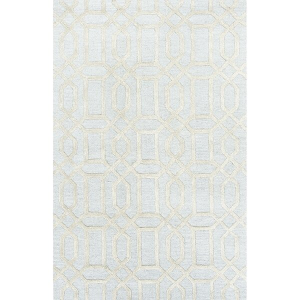Avery Hand-Tufted Wool Blue/Ivory Area Rug by Willa Arlo Interiors