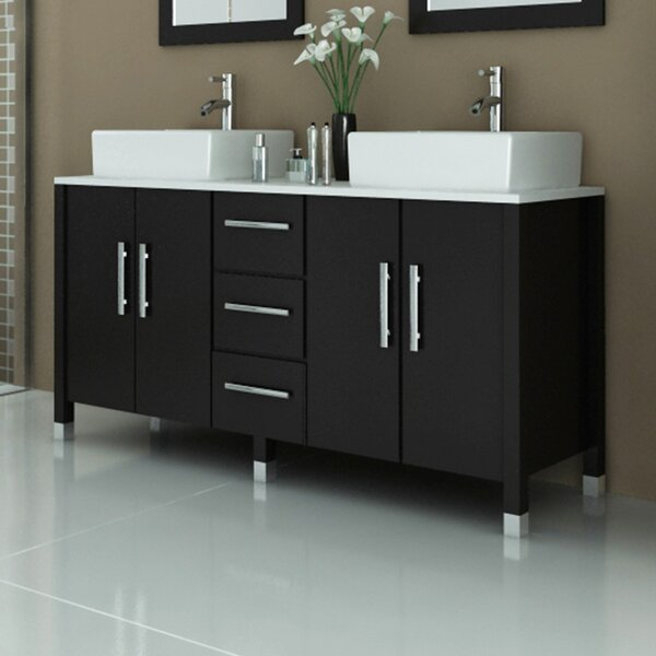 Sirius 59 Double Bathroom Vanity Set by JWH Living