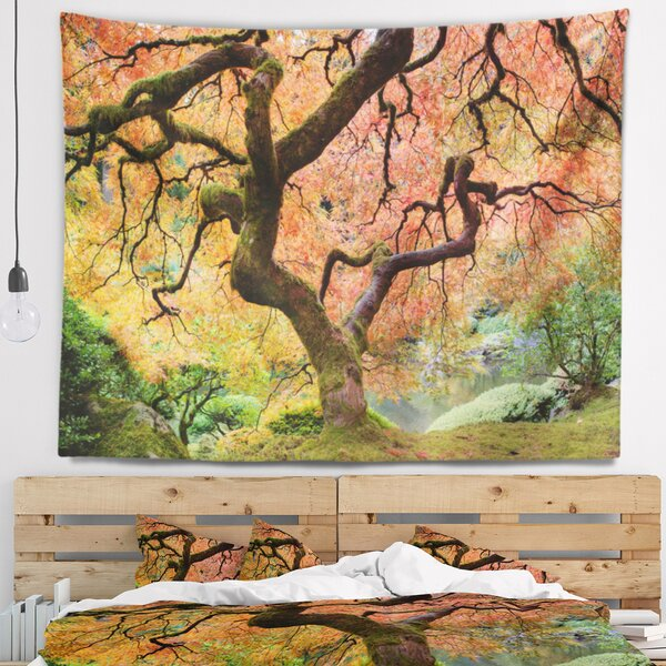 Landscape Photography Autumn Maple Tree Tapestry by East Urban Home