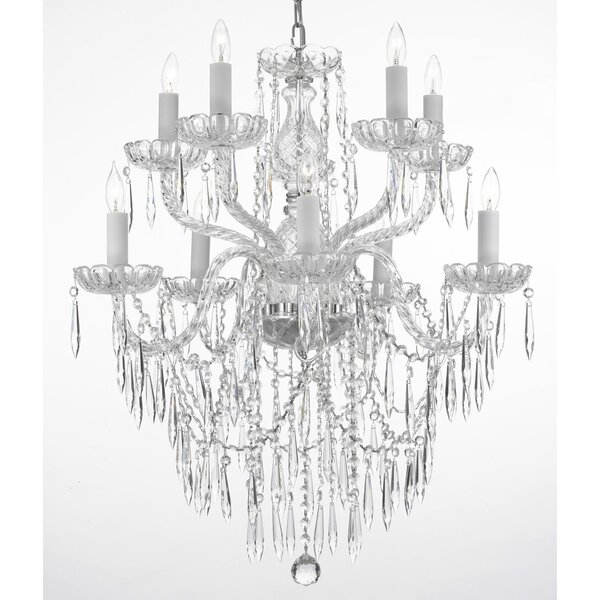 Kenyon 10-Light Candle Style Tiered Chandelier by House of Hampton House of Hampton