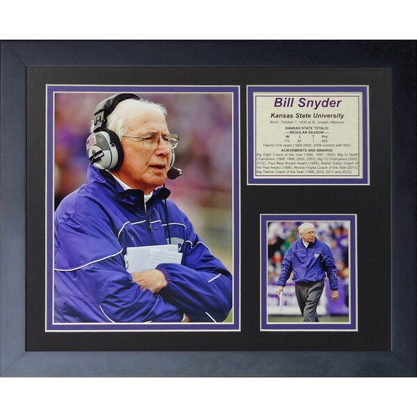 Bill Snyder Framed Memorabilia by Legends Never Die