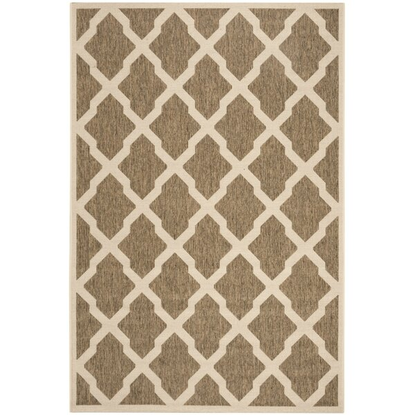 Cashion Brown/Cream Area Rug by Longshore Tides