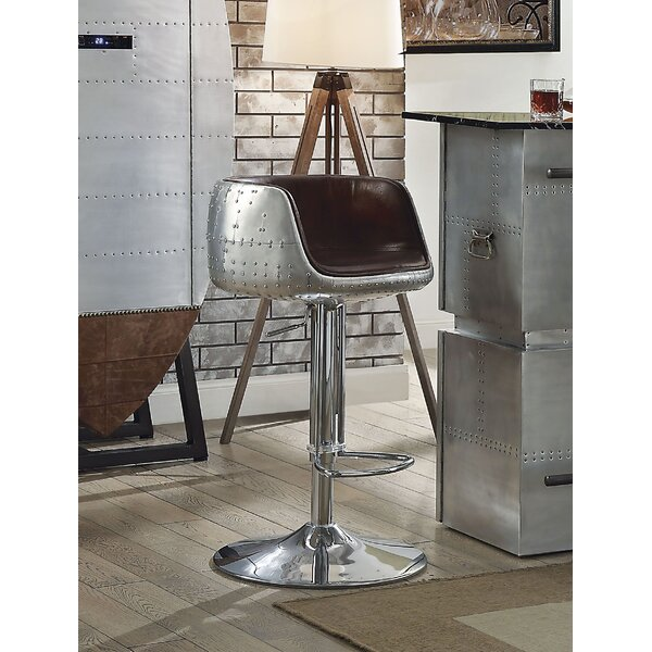 Marne Adjustable Height Swivel Bar Stool by 17 Stories 17 Stories