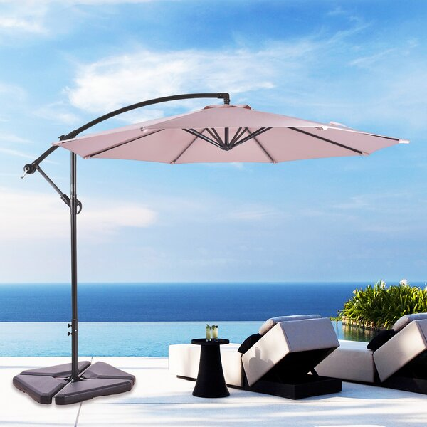 Karr 10' Cantilever Umbrella By Alcott Hill by Alcott Hill 2020 Sale