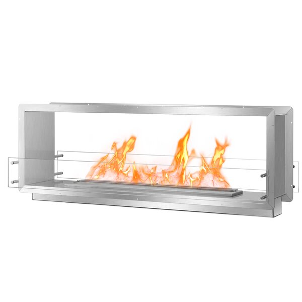 Double Sided Wall Mounted Ethanol Fireplace Insert By BioFlame