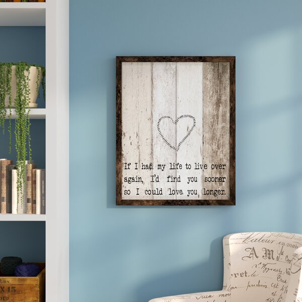 Print Framed Textual Art by August Grove