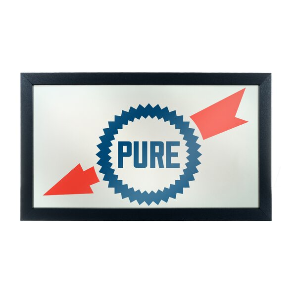 Pure Oil Wordmark Framed Logo Accent Mirror by Trademark Global