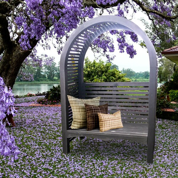 Adelaide Wood Arbor with Bench by European Garden Living