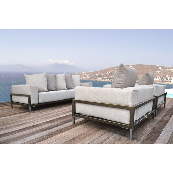 Tilly 3 Piece Sunbrella Sofa Set with Cushions by Orren Ellis