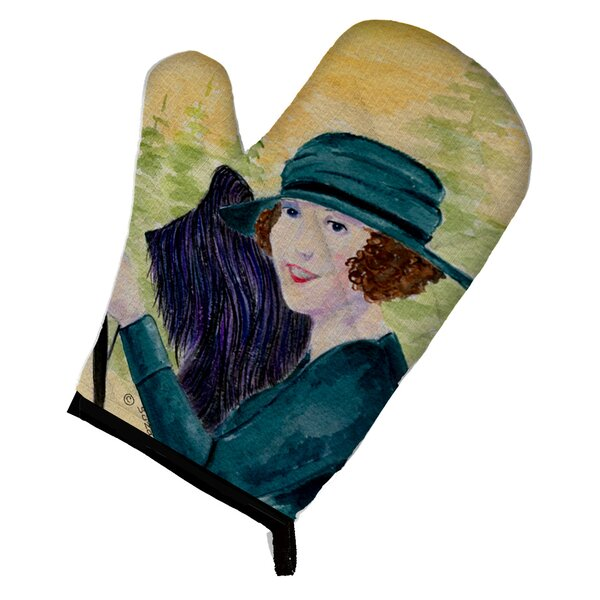 Lady Driving with her Briard Oven Mitt by Caroline's Treasures