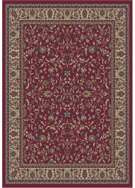 Jewel Kashan Red Area Rug by Threadbind