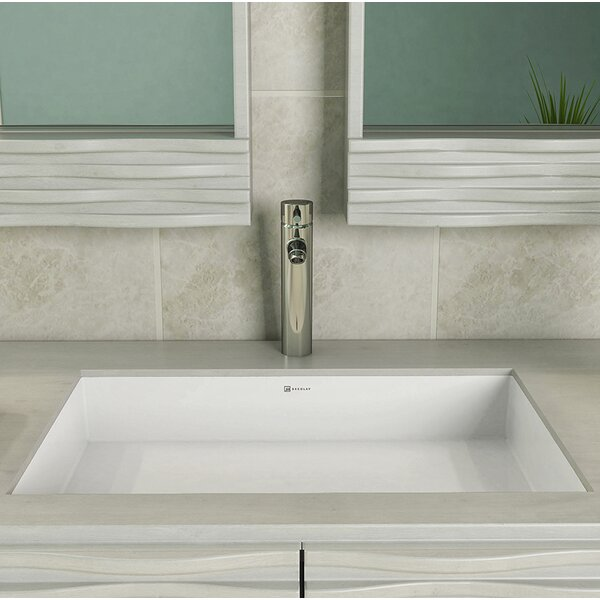 Saidi Solid Surface NULL Rectangular Undermount Bathroom Sink with Overflow by DECOLAV