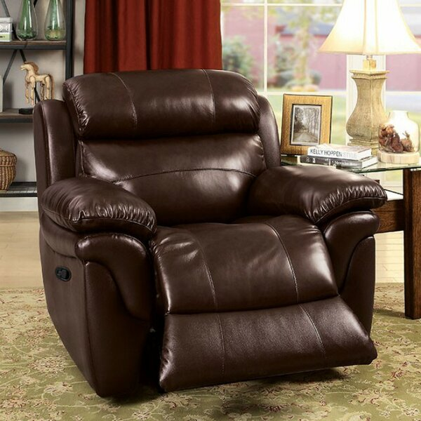 Stevens Point Leather Recliner by Red Barrel Studio