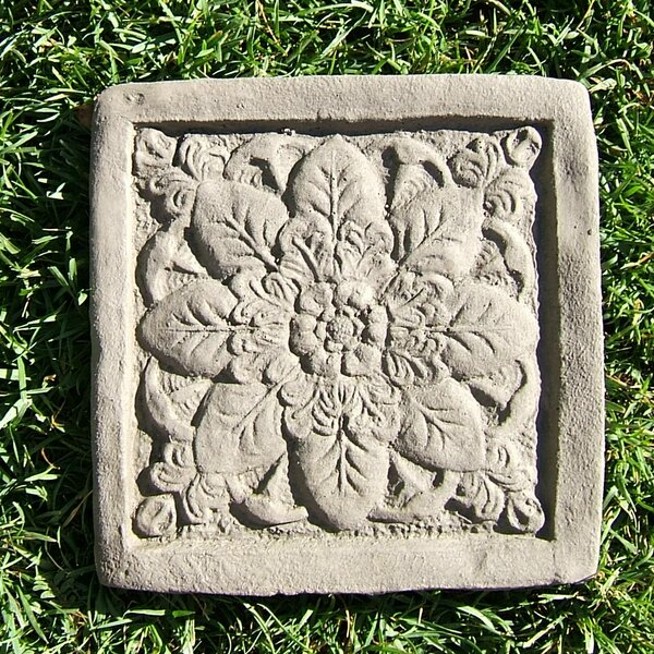 Square Rose Stepping Stone (Set of 3) by Designer Stone, Inc