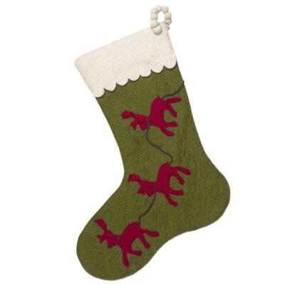 Reindeer Stocking Color: Green