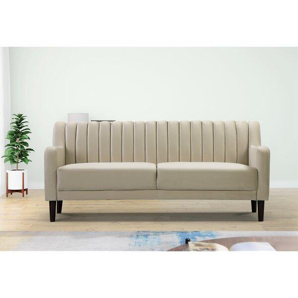 Velvet 73.6'' Square Arm Sofa by Mercer41 Mercer41