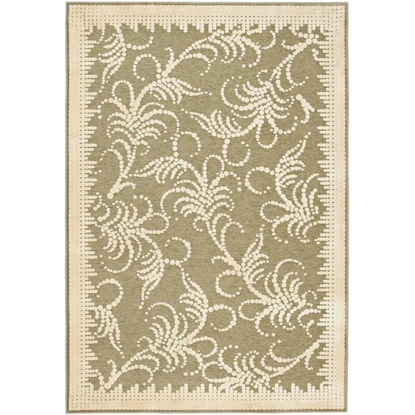 Martha Stewart Fountain Swirl Green/Ivory Area Rug by Martha Stewart Rugs