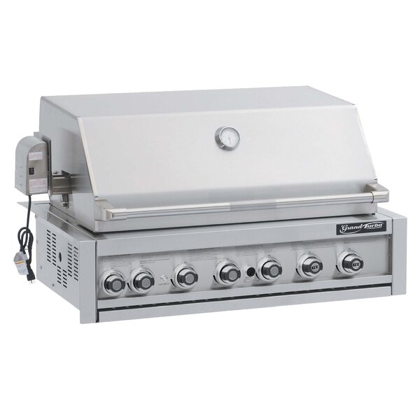 Grand Turbo 7-Burner Built-In Natural Convertible Gas Grill by Barbeques Galore