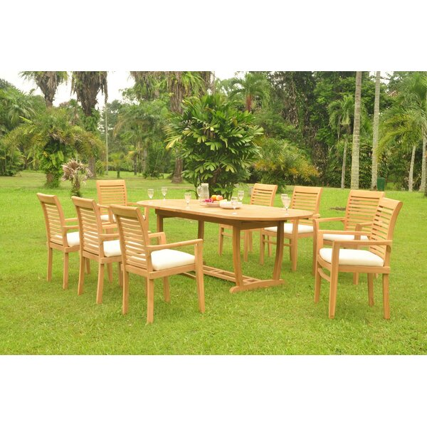 Selby Luxurious 9 Piece Teak Dining Set by Rosecliff Heights