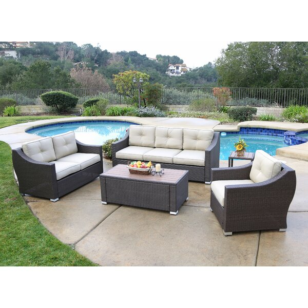Leib 4 Piece Sofa Seating Group with Cushion by Latitude Run