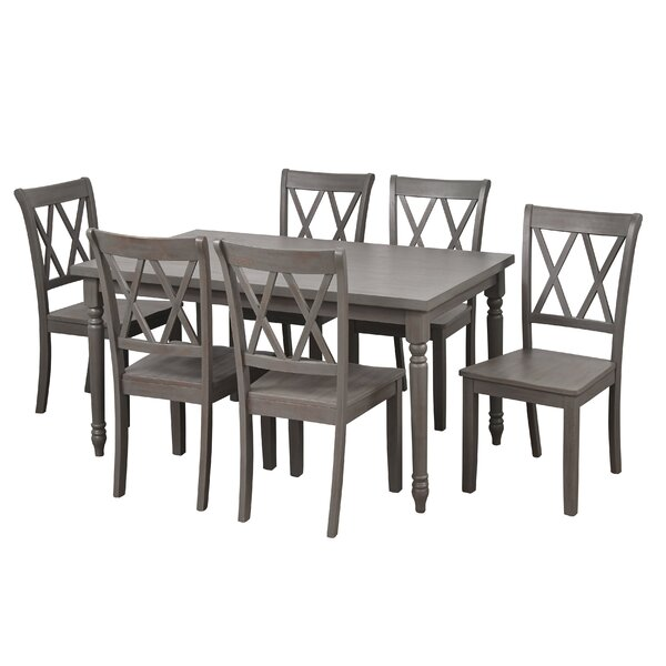 Best Design Kristopher 7 Piece Dining Set By Ophelia & Co. Read Reviews