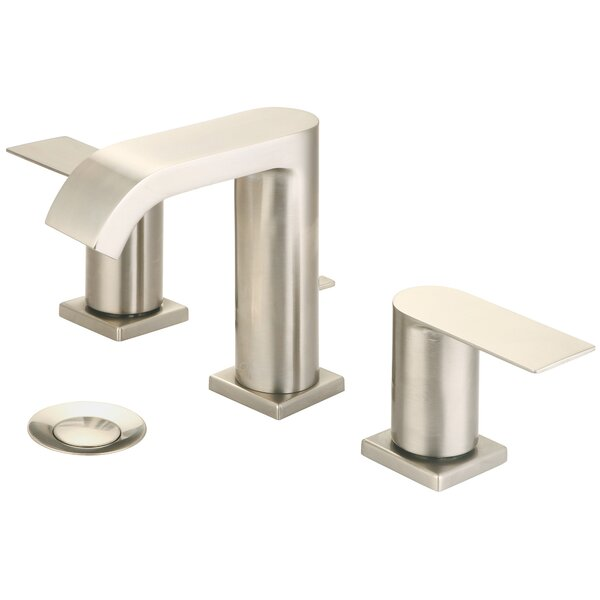 i4 Two Handle Lavatory Widespread Bathroom Faucet with Drain Assembly