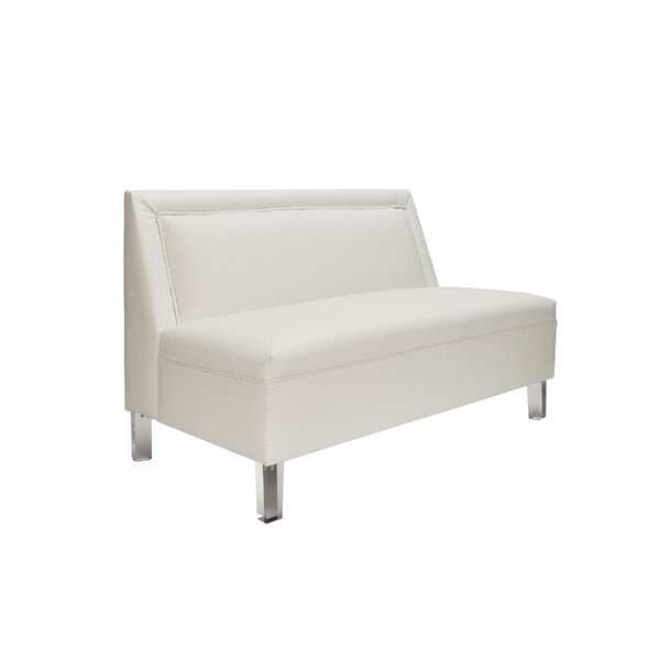 Armless Settee by Worlds Away
