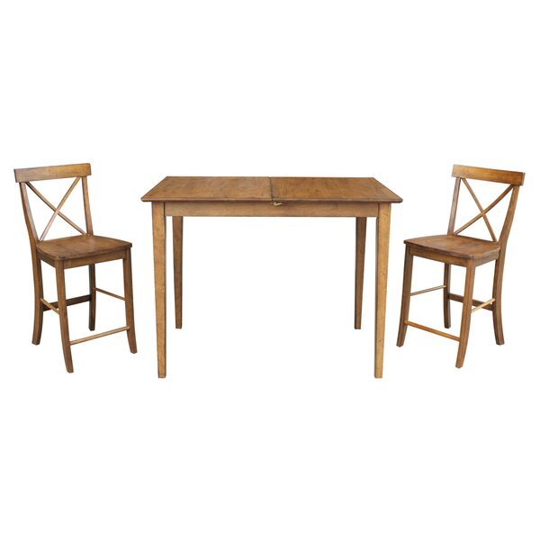 Lalikova 3 Piece Pub Table Set by August Grove