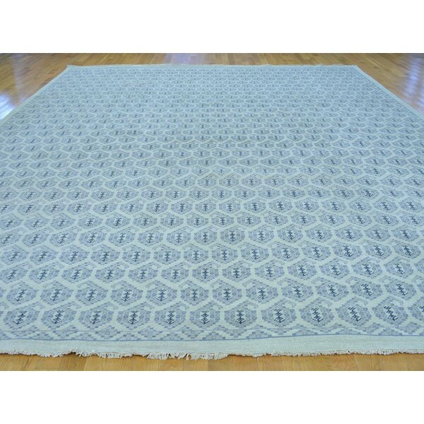 One-of-a-Kind Bridgette Turkish Knot Paisley Design Handwoven Ivory Wool Area Rug by Isabelline